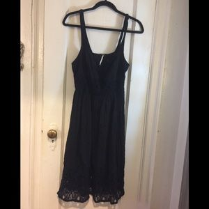 Free People Crinkle & Lace Dress